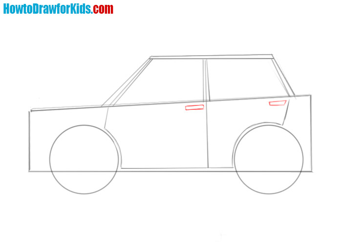 how to draw easy car