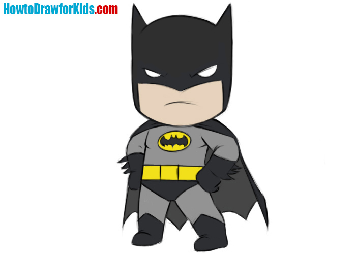How to draw Batman for kids