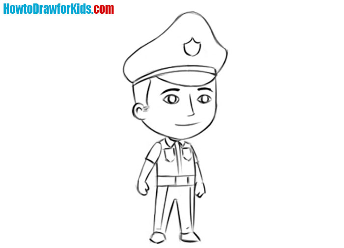 Police Officer drawing
