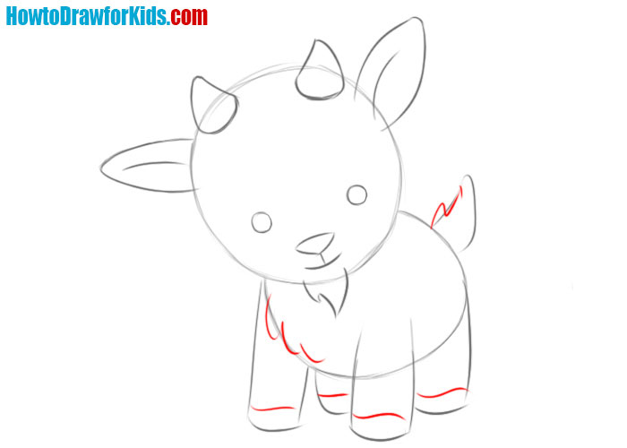 how to draw a Goat baby
