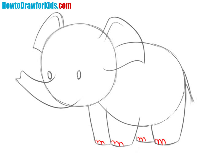 learn how to draw an elephant easy