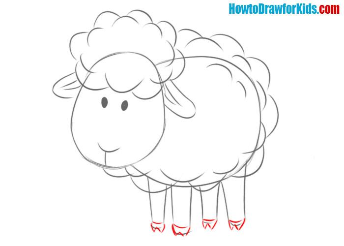 sheep drawing tutorial