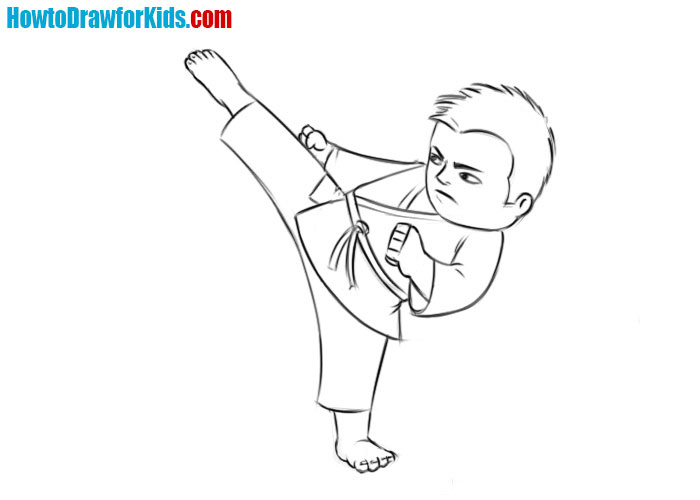 Learn how to draw a Fighter easy step by step
