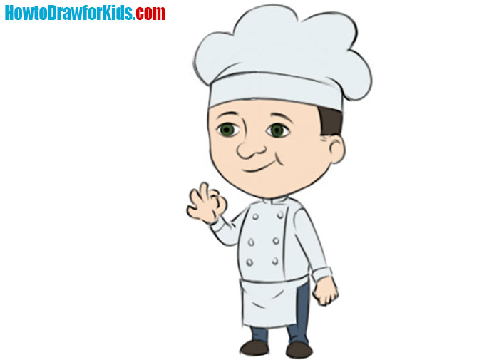 how to draw a Cook