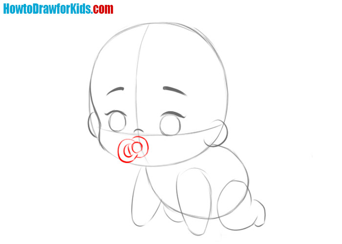 how to draw a baby step by step