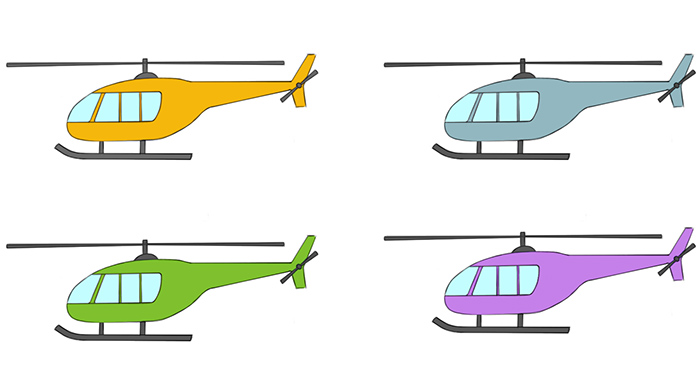 Helicopter drawing tutorial