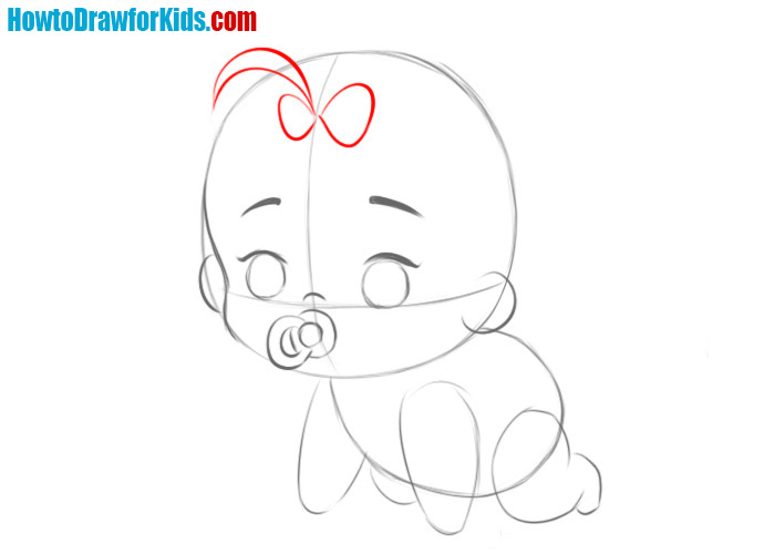 how to draw a baby easy