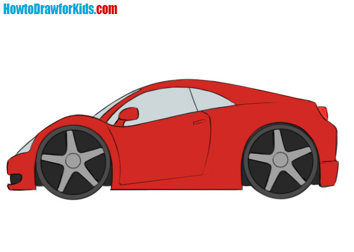 how to draw a car easy for kids