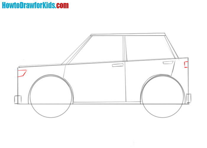 how to draw an easy car