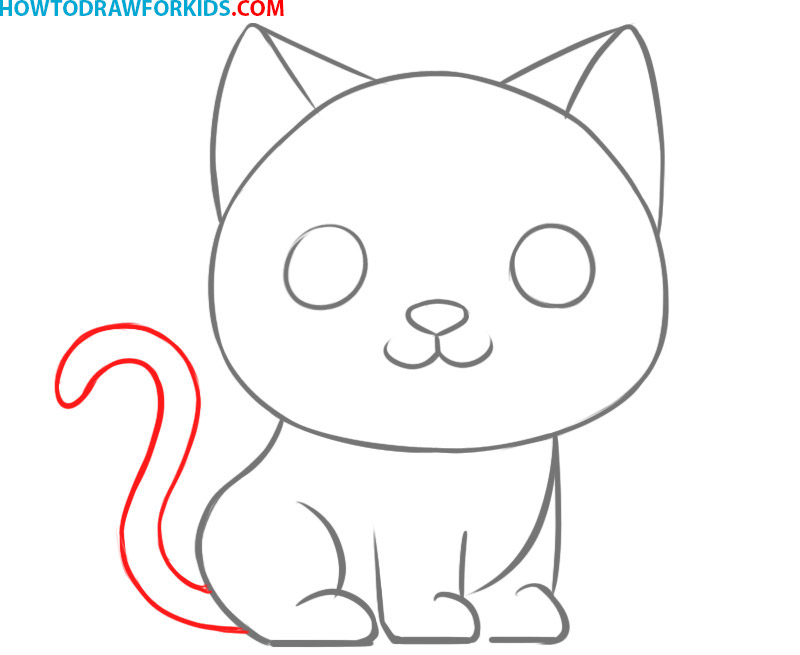 how to draw a cat easy