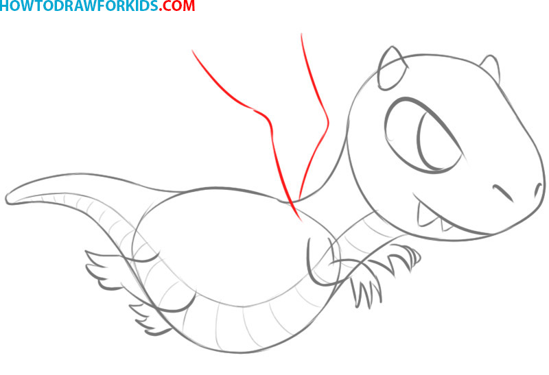 how to draw a dragon flying