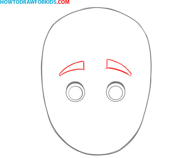 how to draw a face boy