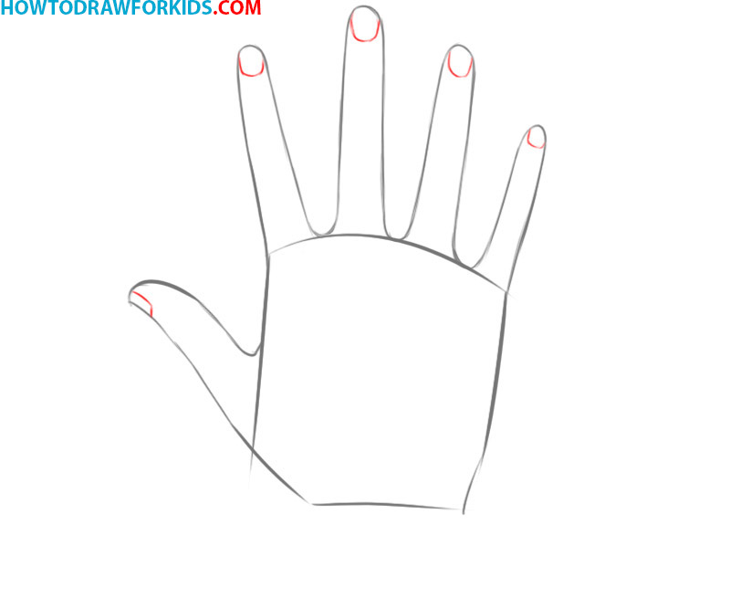 how to draw a hand easy step by step