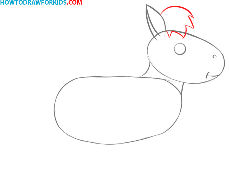 how to draw a horse cute