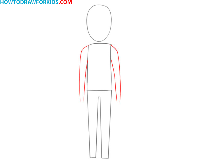 how to draw a person body easy