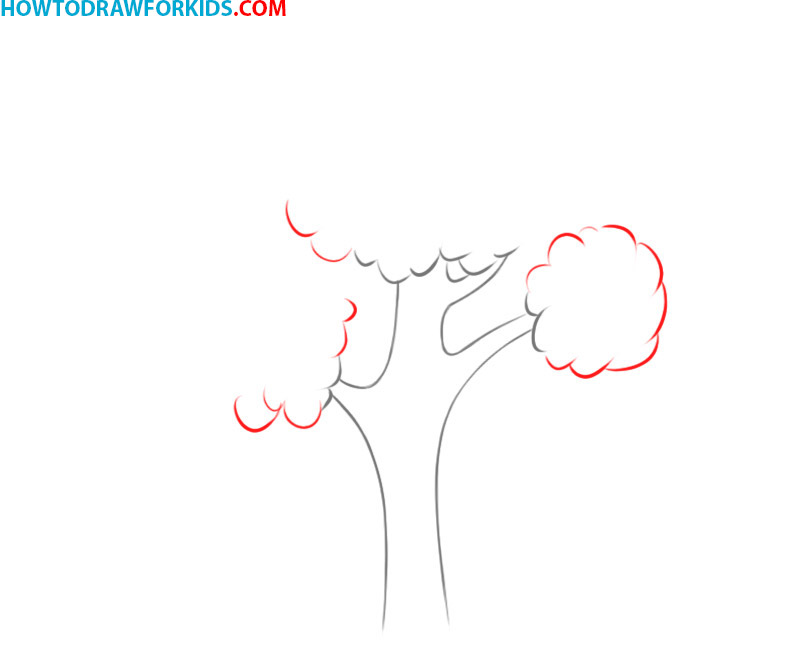 how to draw a tree cute
