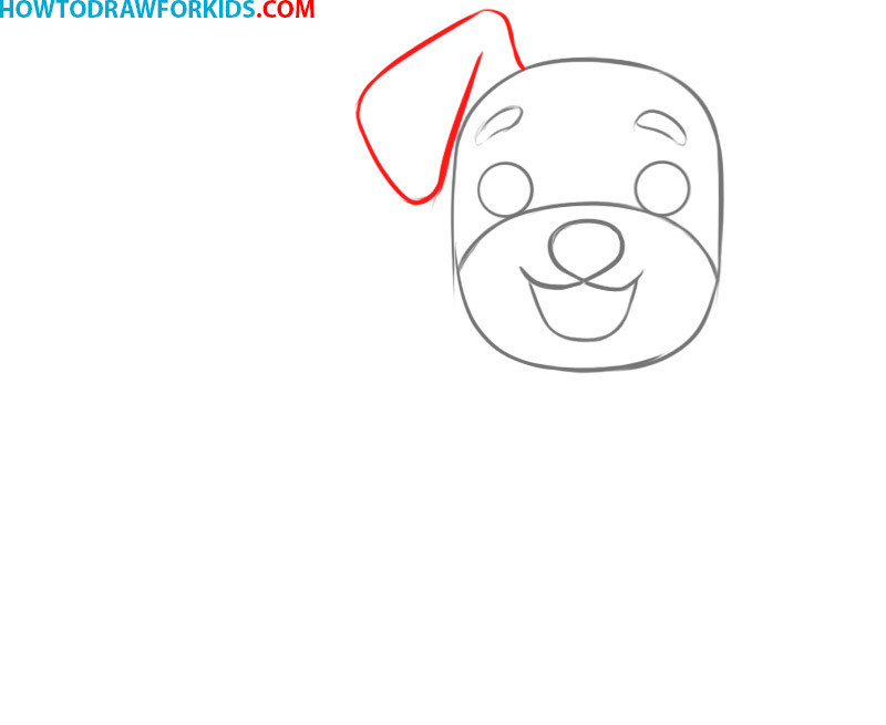 how to draw a dog draw so cute
