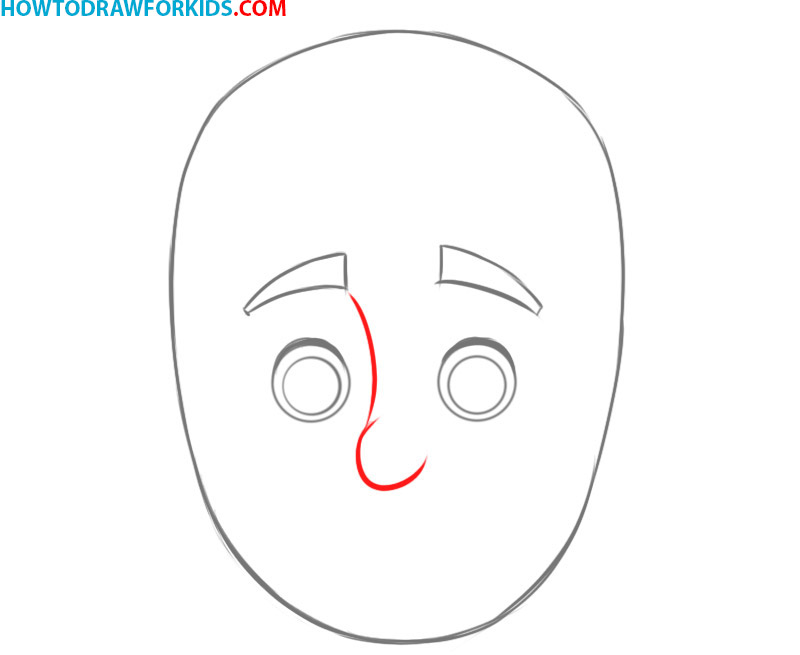how to draw a face beginners