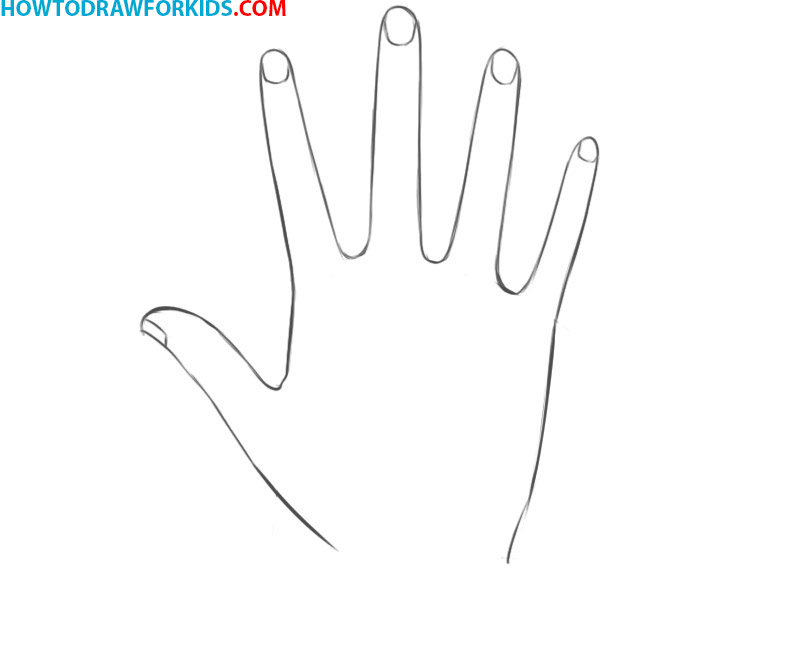 how to draw a hand step by step