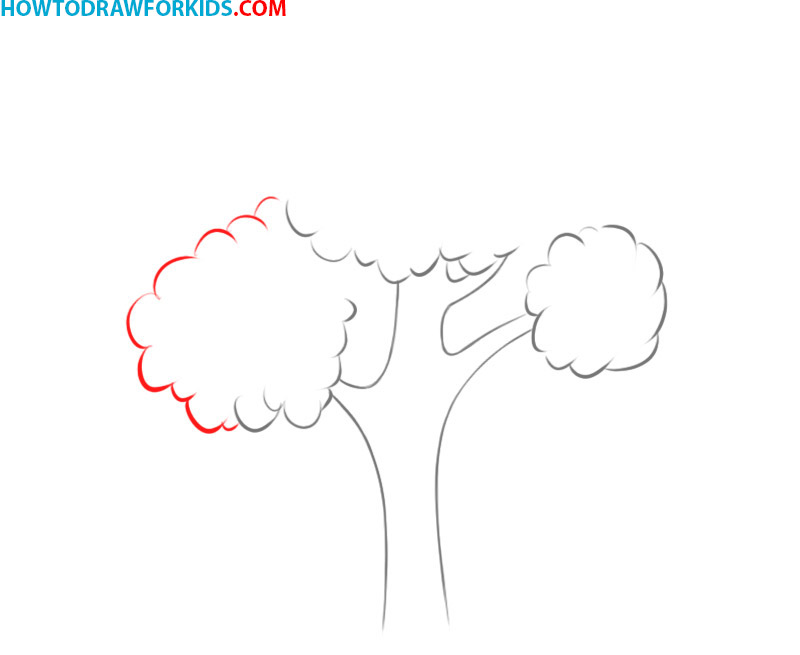 how to draw a tree colored pencil
