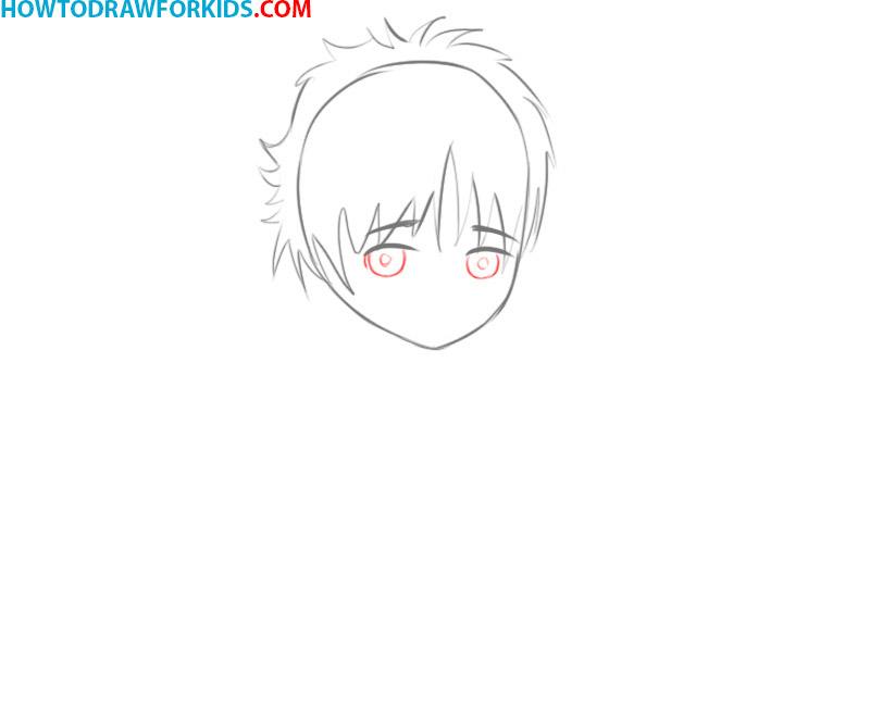 how to draw manga eyes step by step