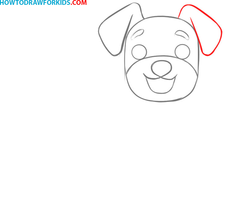 how to draw a dog cute easy