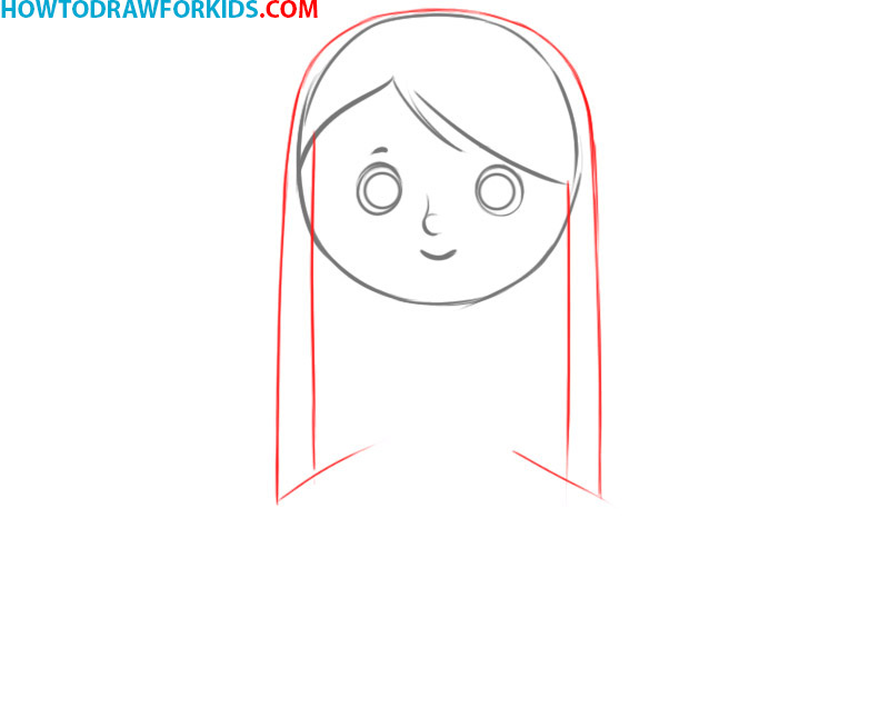 how to draw a girl cartoon