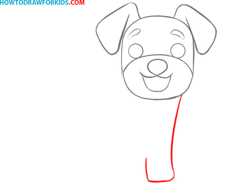 how to draw a dog cartoon easy