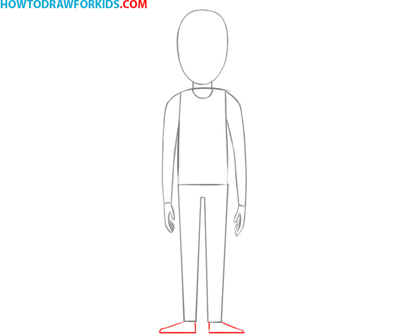 how to draw a person boy