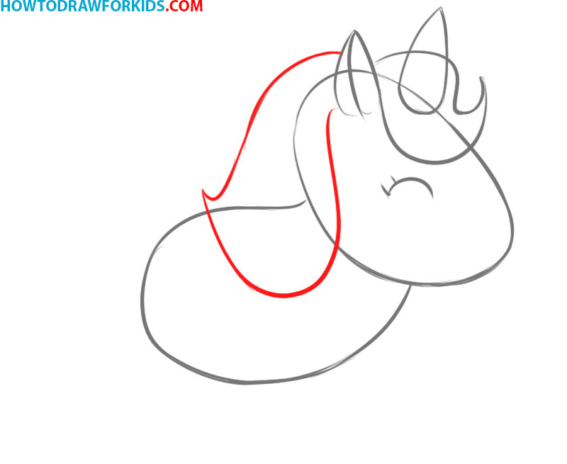how to draw a unicorn easy steps