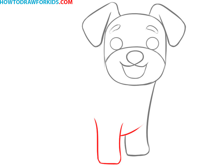 how to draw a dog cute