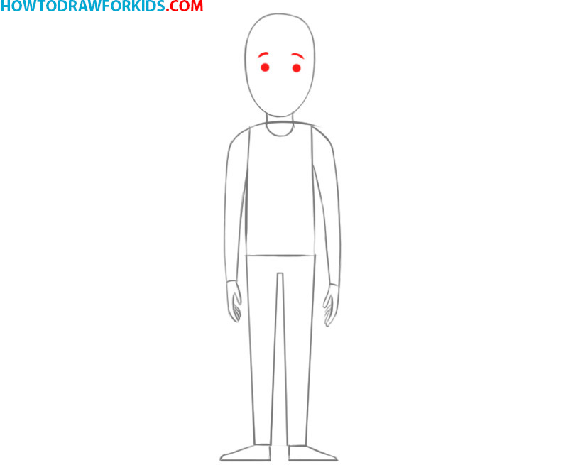 how to draw a person body