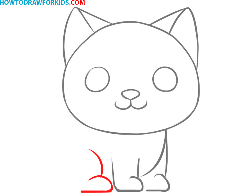 how to draw a cat face easy