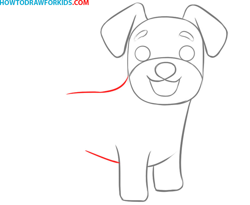 how to draw a dog head