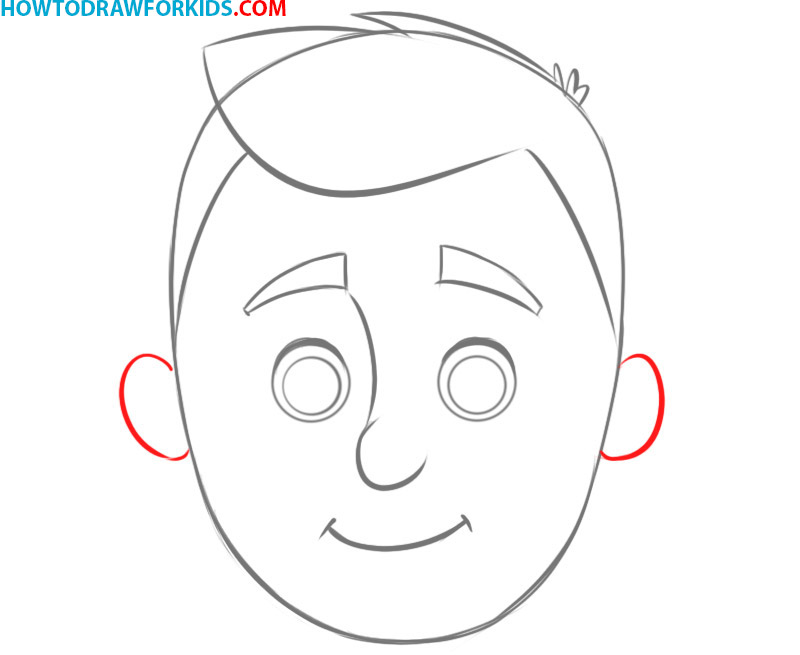 how to draw a face cartoon