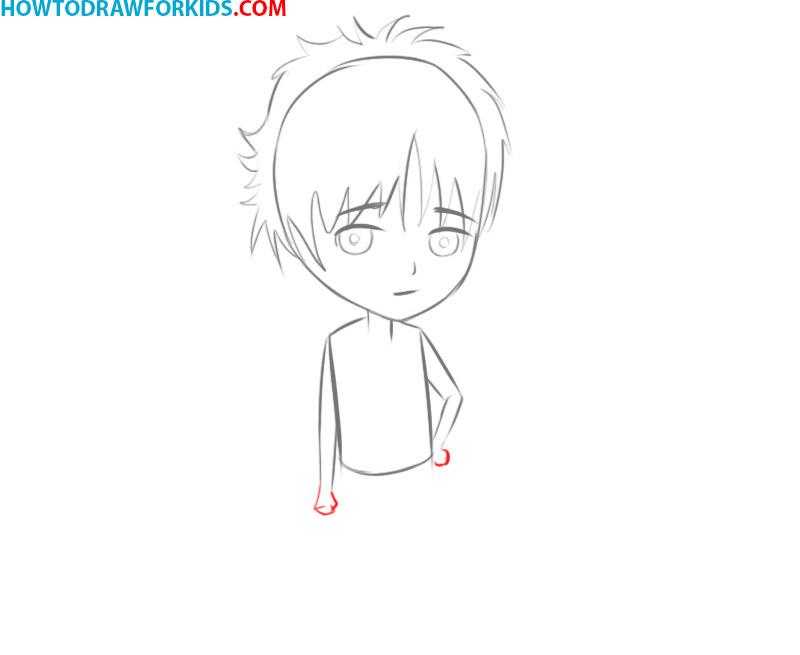 how to draw a manga boy