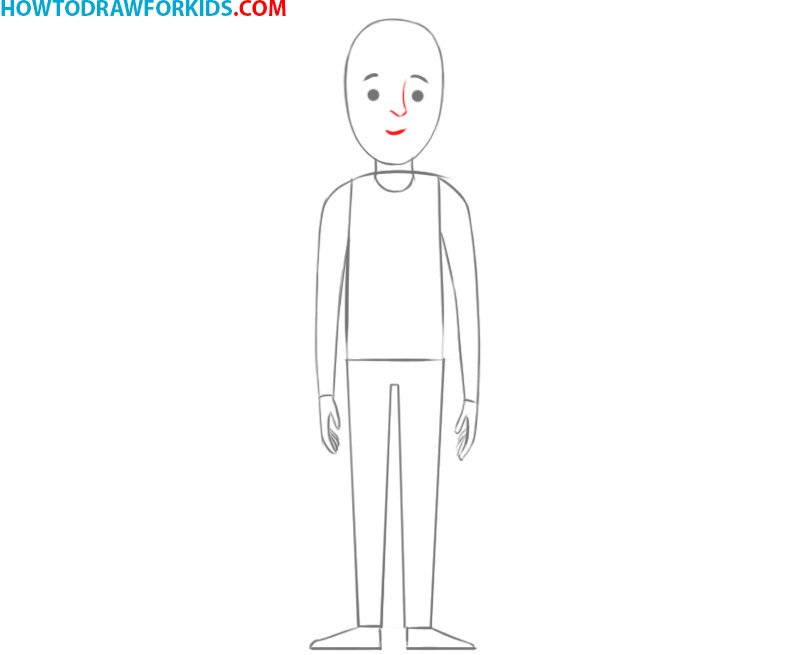 how to draw a person cartoon