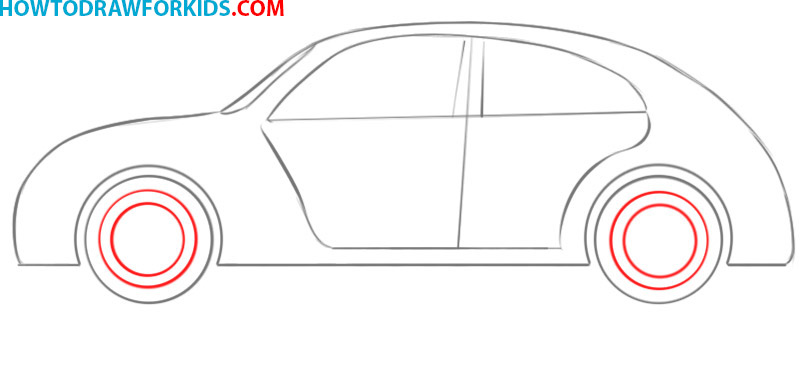how to draw a simple car