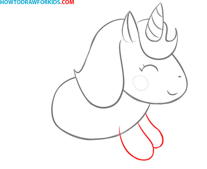 how to draw a unicorn cartoon easy