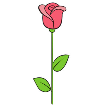 How to Draw a Rose Very Easy