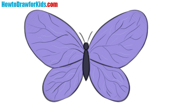 How to draw a butterfly for kids and beginners