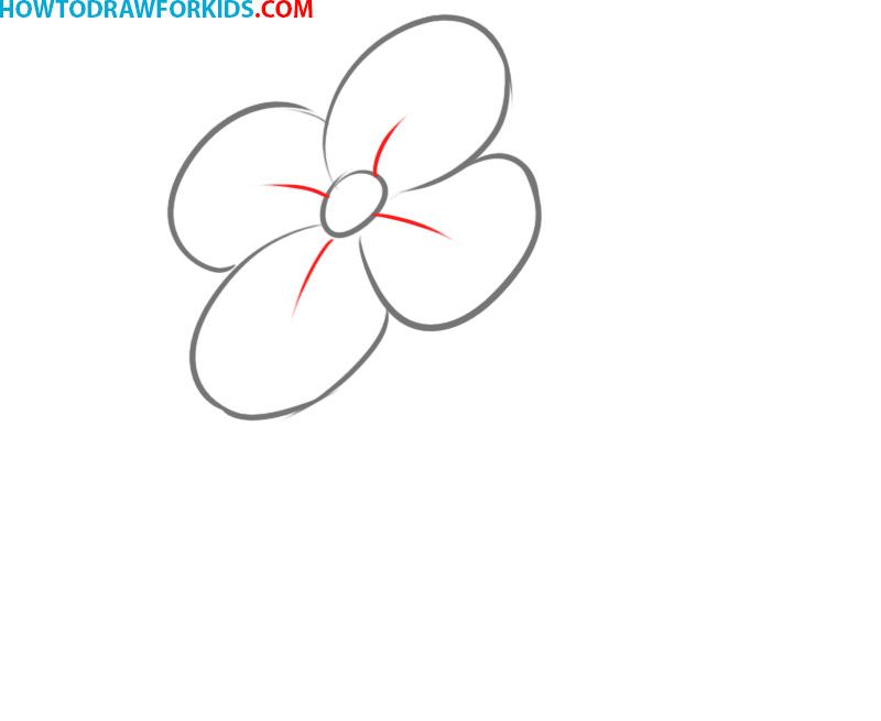 How easy to draw a cartoon flower