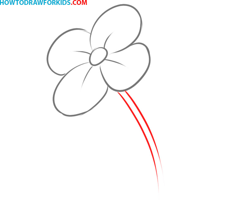 How to draw a cartoon flower
