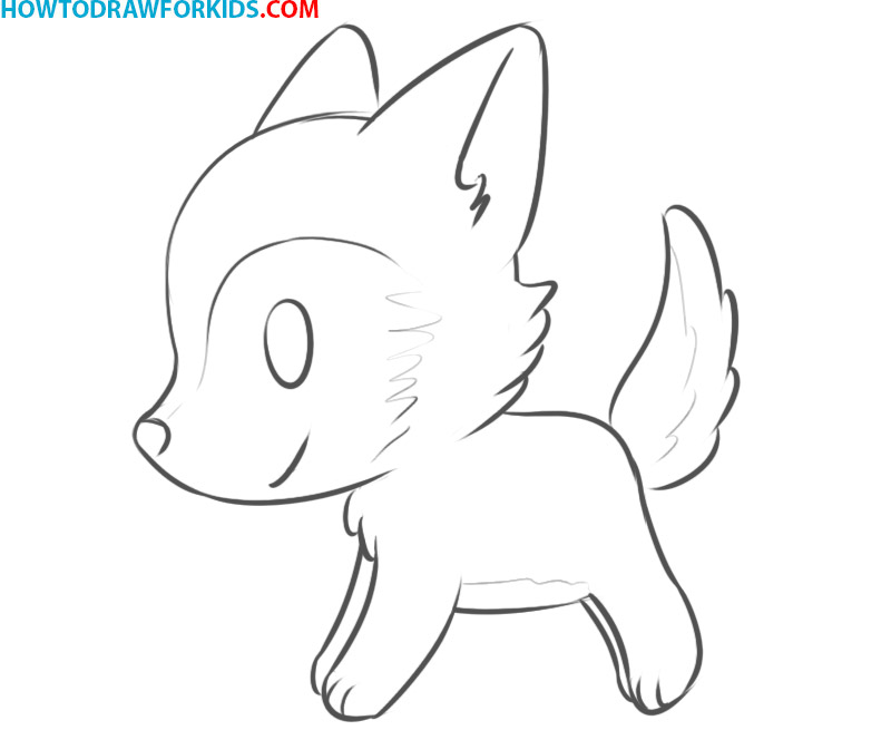 How to Draw a Wolf for Kids easy