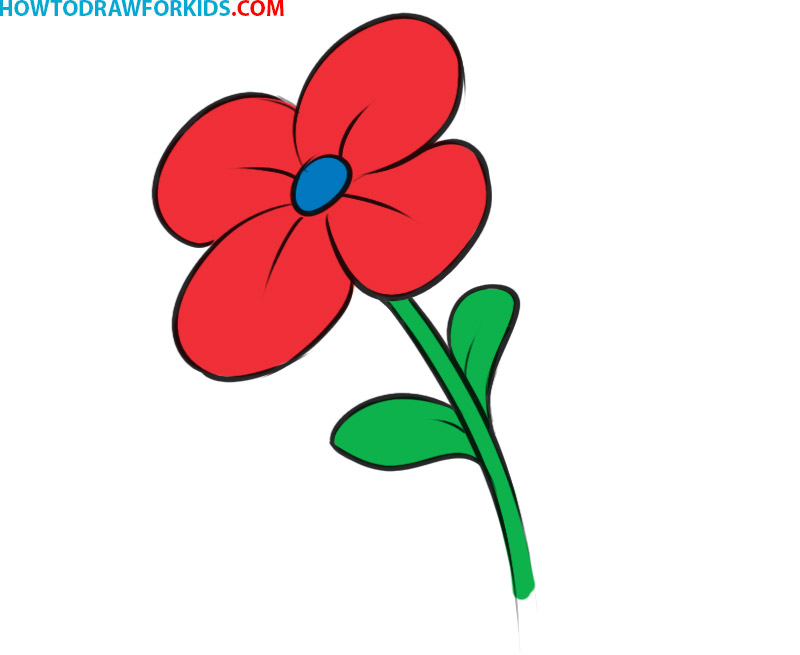 How to draw a flower for kids