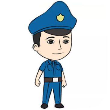 How to Draw a Police Officer