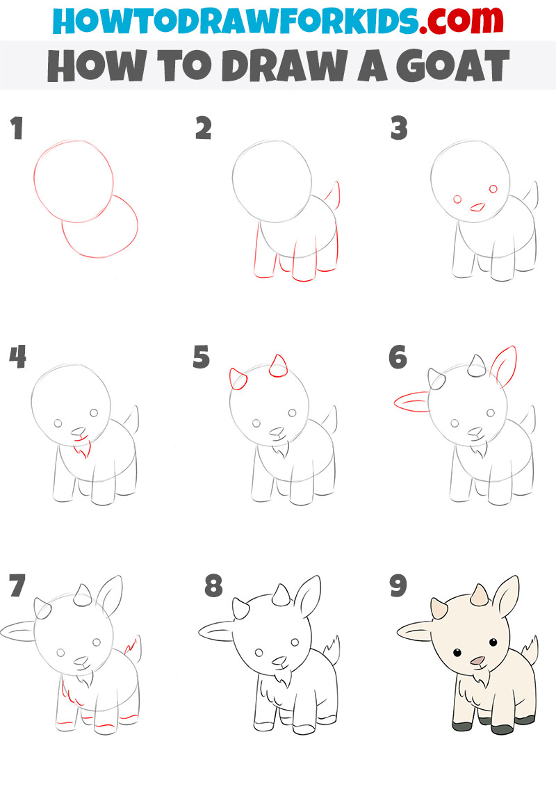 how to draw a goat