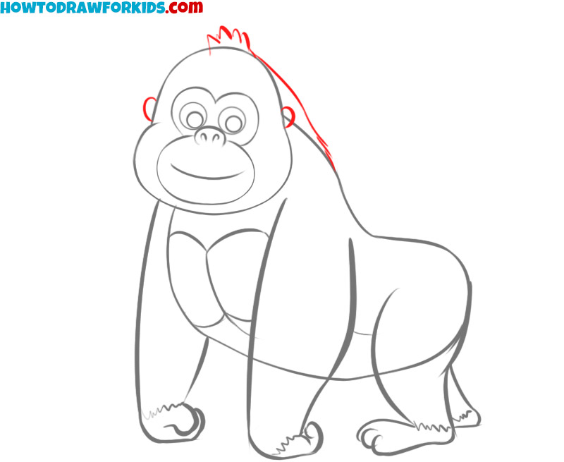gorilla drawing tutorial