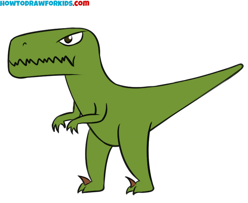how to draw a velociraptor for kids