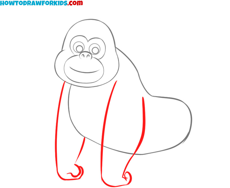 how to draw an easy gorilla